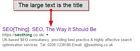 An example title element